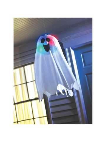Light Up Ghost Fabric Hanging Decoration (Each)