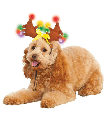 Light Up Reindeer Antlers For Pets Accessory