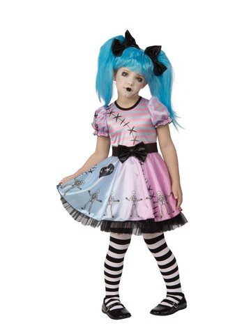 Child Little Blue Skeleton Costume