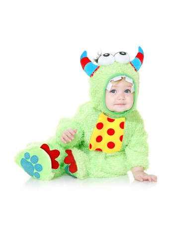 Toddler's Lime Mini Monster Costume