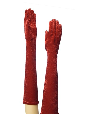 Long Red Adult Gloves for Adults