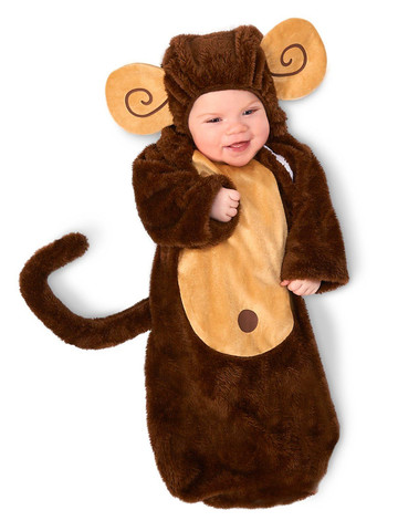 Baby Loveable Monkey Bunting