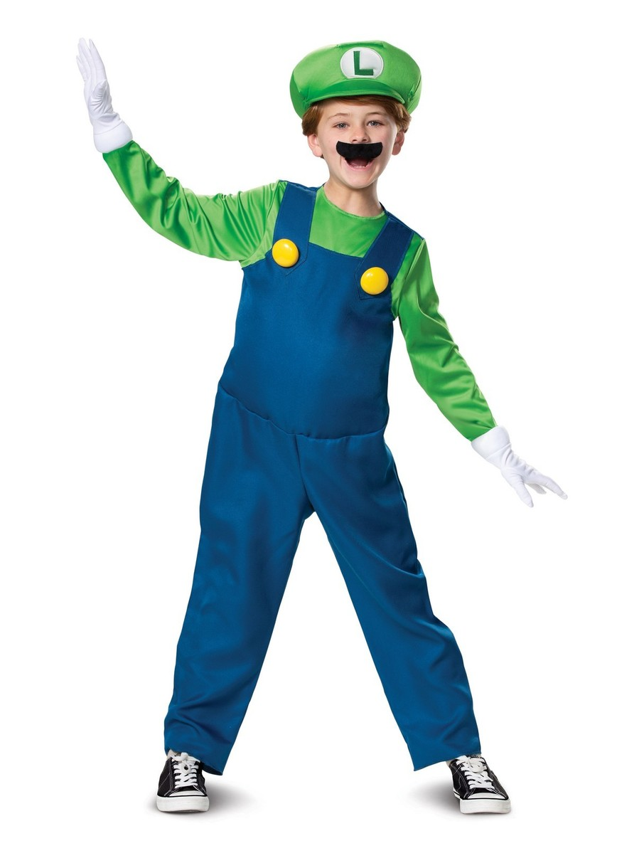 View larger image of Deluxe Luigi Costume for Kids