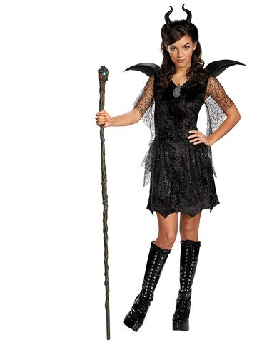 Maleficent Black Gown Tween/Teen Deluxe Girls Costume
