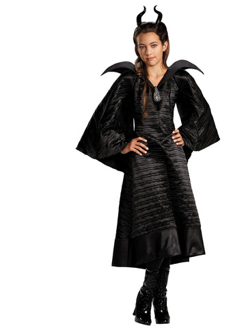 Maleficent Christening Black Gown Deluxe Girls Costume