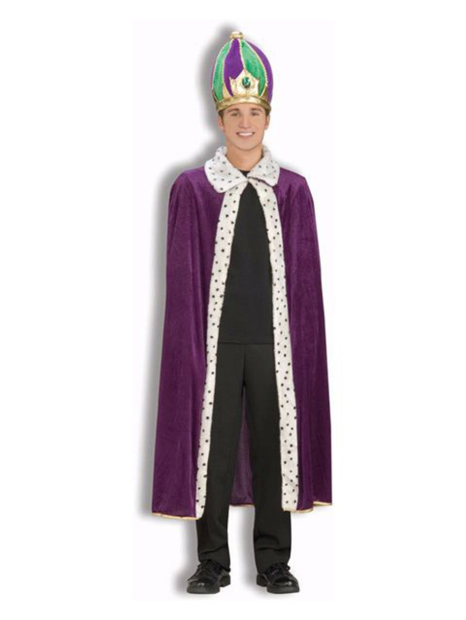 View larger image of Mardi Gras Robe and Crown Set Adult