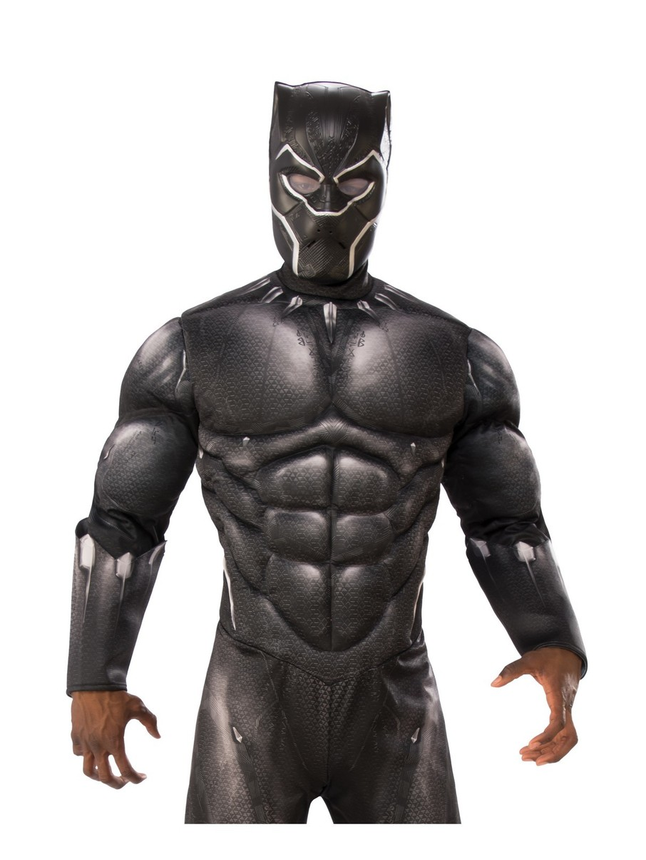 View larger image of Marvel: Black Panther Movie Black Panther Vinyl 3/4 Mask for Adults