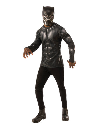 Black Panther Mens Costume Top