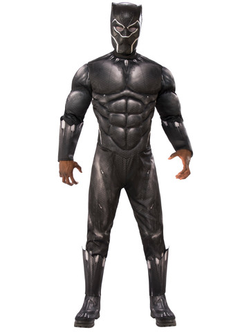 Marvel: Black Panther Movie Adult Deluxe Black Panther Muscle Chest Costume