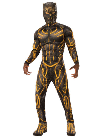 Marvel: Black Panther Movie Adult Deluxe Erik Killmonger Battle Suit Costume