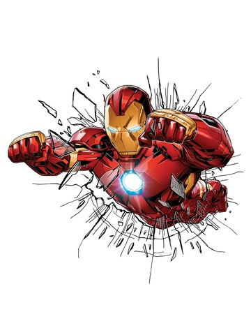 Marvel Comics Decorative Iron Man Window Sticker