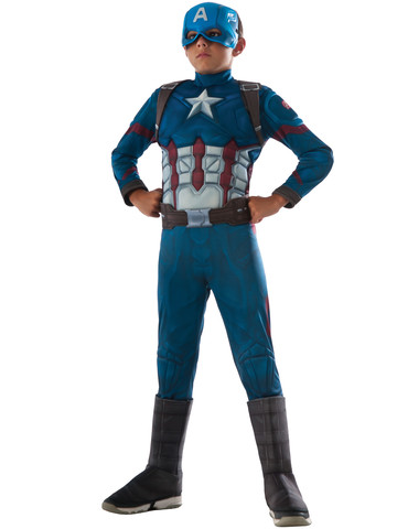 Marvel's Captain America: Civil War - Boys Deluxe Muscle Chest Captain America Costume