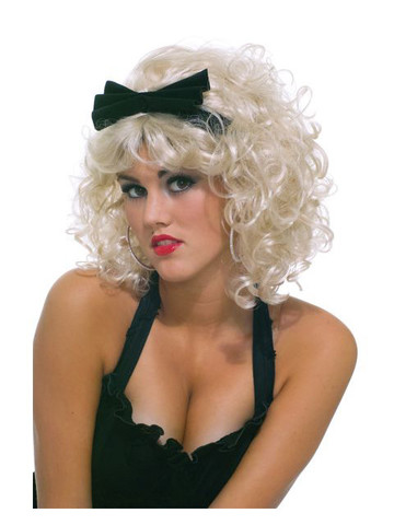 Pop Star 80's Wig w/Bow