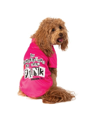 Wednesday Wear Pink Mean Girls Costume for Pet