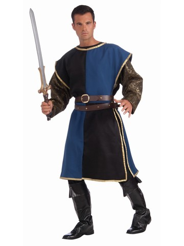Blue and Black Medieval Tabard