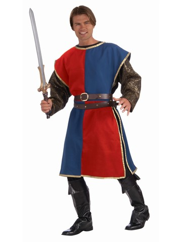 Blue and Red Medieval Tabard