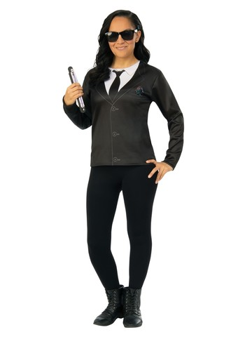 Adult Agent EM Men in Black 4 Costume Top