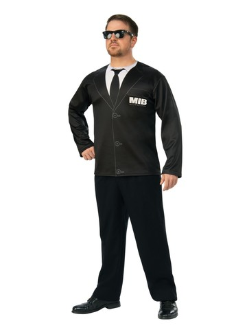 Adult Agent H Men in Black 4 Costume Top