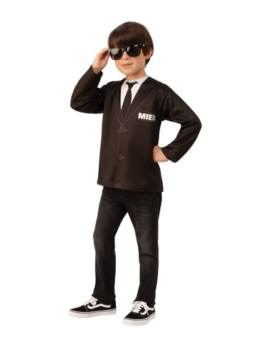 Child Men in Black 4 Costume Top