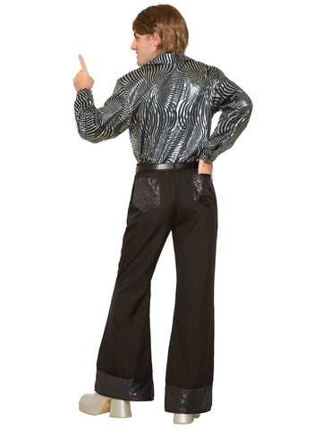 Men's 70's Black Disco Pants