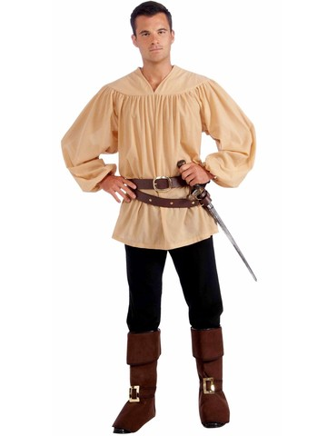 Mens Adult Beige Medieval Shirt