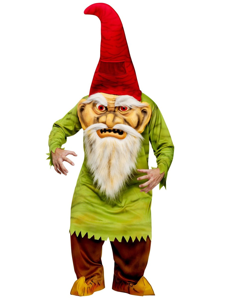 View larger image of Mens Big Head Evil Gnome Adult Costume