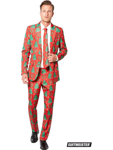 Mens Christmas Tree Suitmeister Suit Costume
