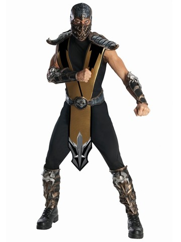 Mens Deluxe Mortal Kombat Scorpion Costume