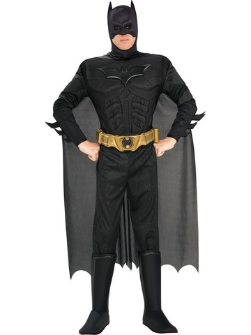 Mens Deluxe Muscle Dark Knight Batman Costume