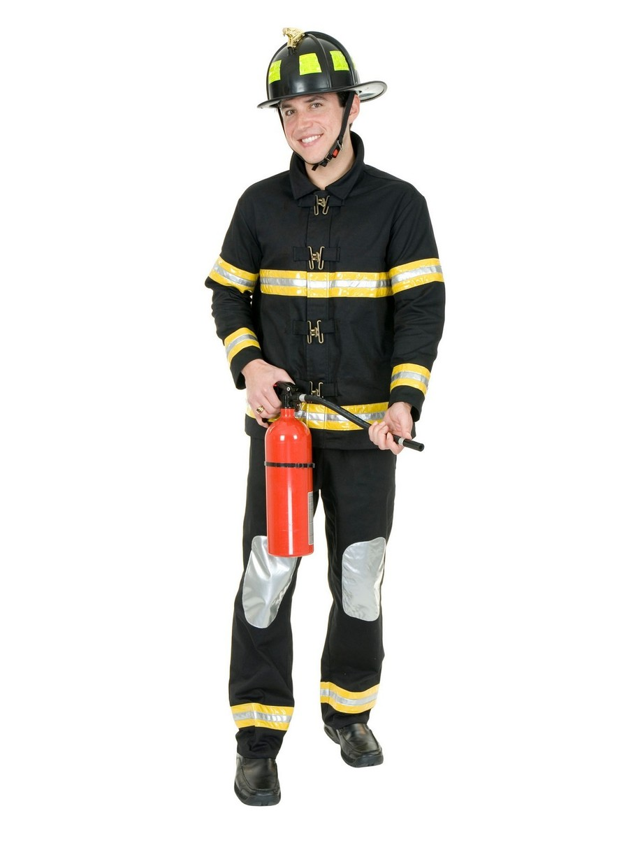 View larger image of Firefighter Costume for Men (Black)