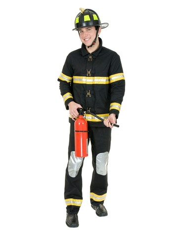 Firefighter Costume for Men (Black)