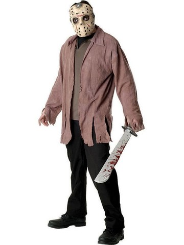 Mens Friday the 13th Jason Voorhees Costume