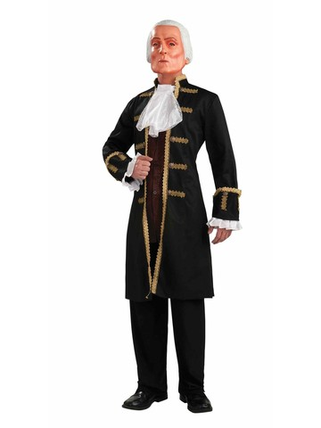 Men's George Washington Costume with Mask