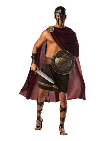 Mens Greek Spartan Warrior Costume