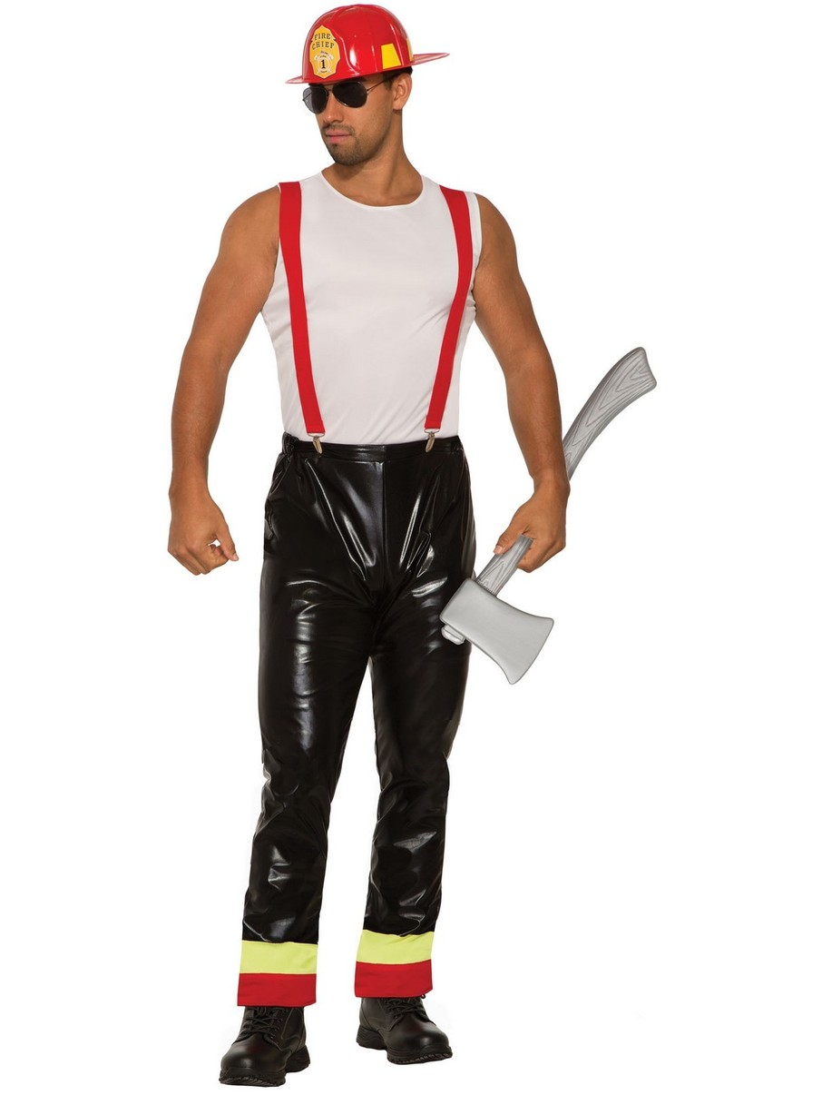 View larger image of Hunky Hero Fireman Mens Costume