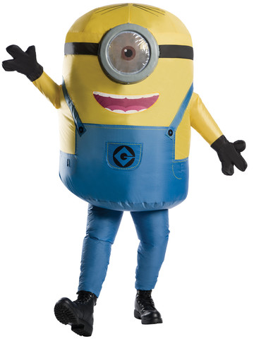 Mens Inflatable Minion Stuart Costume