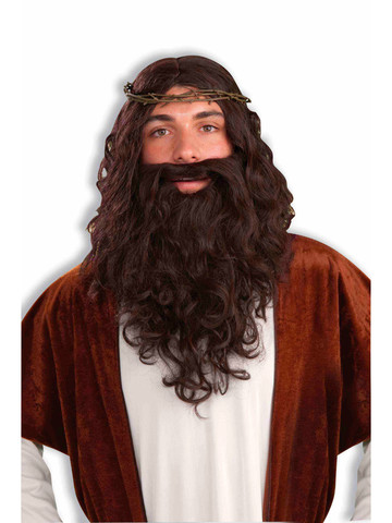 Men's Easter Jesus Wig and Beard Set