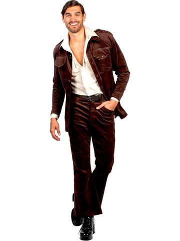 Men's Brown Leisure Suit