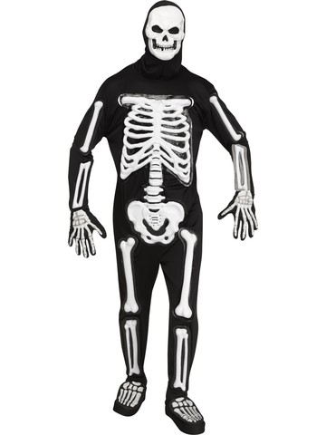 LED Skele-bones Light Up Costume for Men