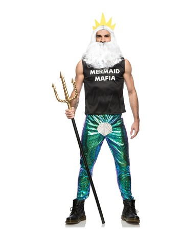 Mens Adult Mermaid Mafia Costume