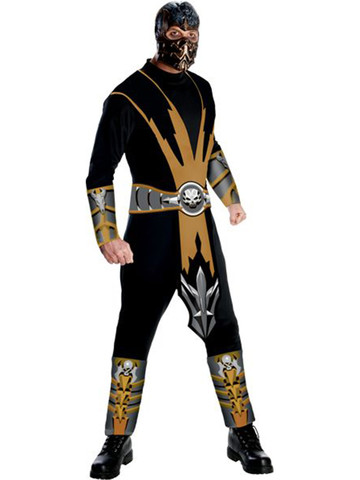 Mens Mortal Kombat Scorpion Adult Costume