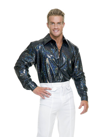 Men's Metallic Disco Shirt