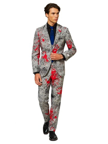 Mens OppoSuits Halloween Hand Print Suit