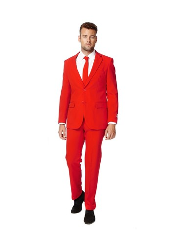Mens OppoSuits Red Devil Suit
