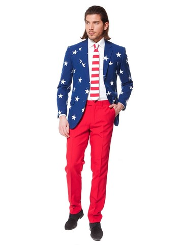 Mens OppoSuits Stars and Stripes Suit