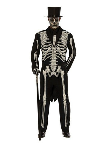 Mens Plus Size Bone Chillin Costume