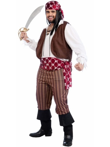 Mens Plus Size Shipwrecked Pirate