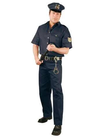 Police Officer Suit Mens Costume