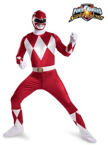 Mens Power Rangers Red Ranger Super Deluxe Costume