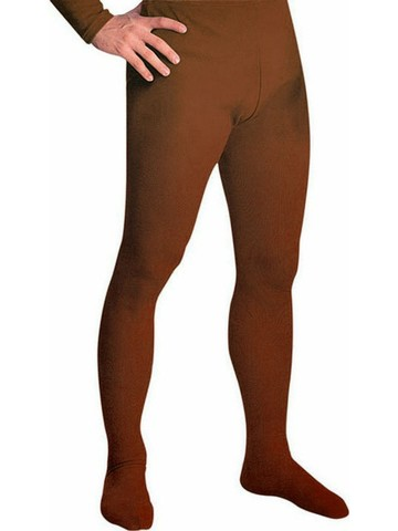 Mens Brown Professional Tights w/ Feet